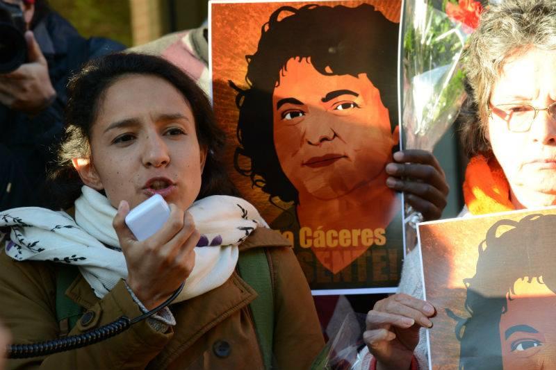 Berta Zúñiga in Washington - April 2016. (Photo credit) Flickr: Comisión Interamericana de Derechos Humanos