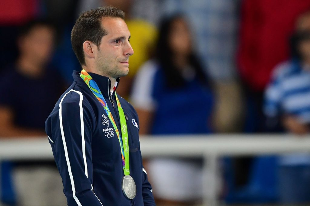 Pole-vaulter Renaud Lavillenie reduced to tears.