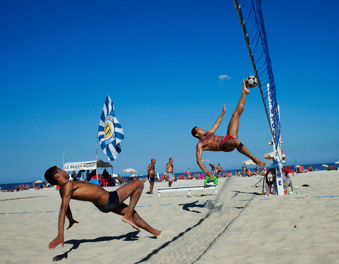 Futevôlei: a popular Brazilian beach sport.
