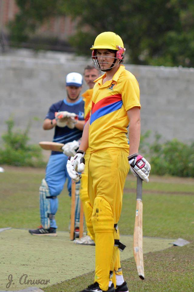 Guy Leslie (Bristol Undergraduate) in action for Colombia