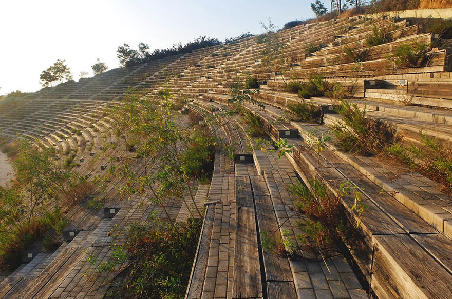 Derelict kayaking and canoeing venue from Athens 2004 Olympics