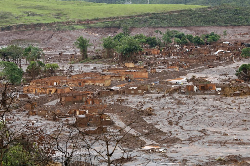 The aftermath of the destruction in the mining town of Bento Rodrigues.