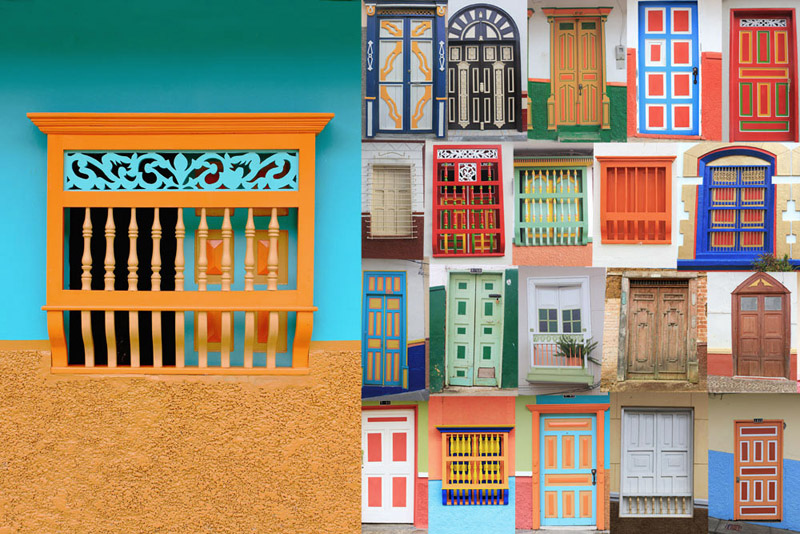 The colourful window of Jericó
