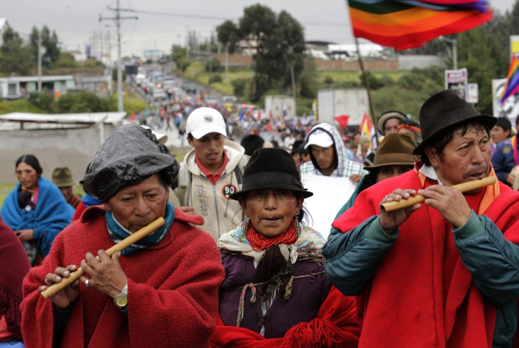 Ecuador-Indigenous march to quito