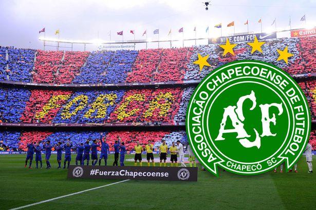 Barcelona pay tribute to Chapecoense