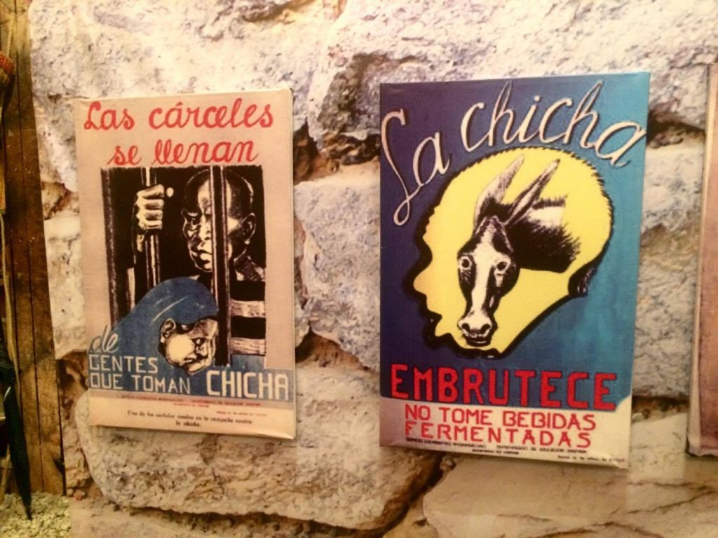 Anti-chicha campaigning posters from the 1930s