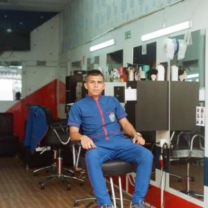 Hairdresser in Armenia. June 2017