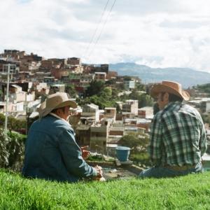 Men Looking over Los Laches, Bogota DC. June 2017