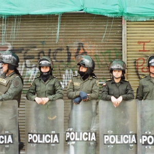 Police in Bogota. April 2017