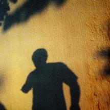 Self portrait during the sunrise in Veracruz, Mexico